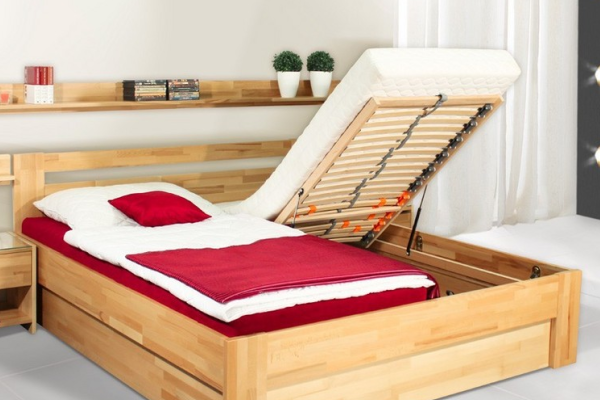 postele s uložným prostorem